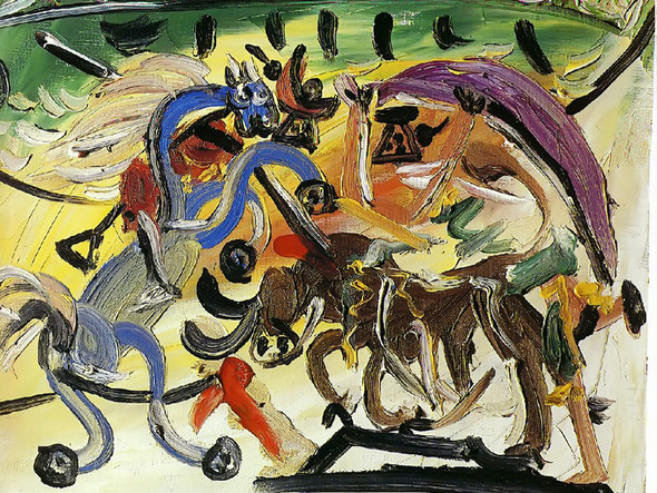 A Bullfight 33x40 by Picasso Print