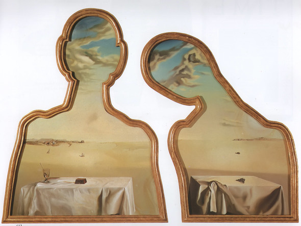 A Couple With Their Heads Full Of Clouds by Salvador Dali Print