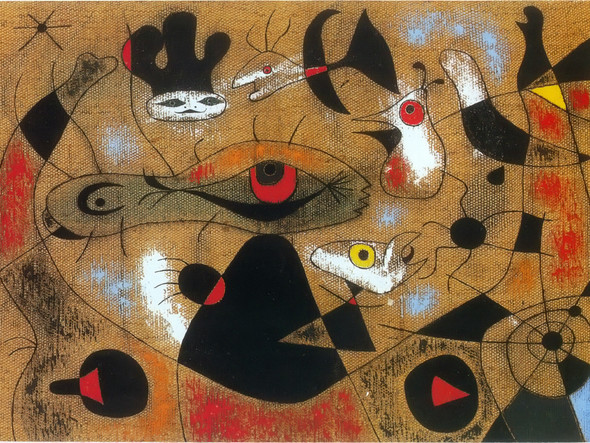 A Dew Drop Falling From A Birds Wing Wakes Rosalie Who Has Been Asleep In The Shadow Of A Spiders Web 1939 by Joan Miro Print