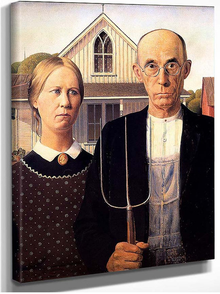 American Gothic 1930 By Grant Wood