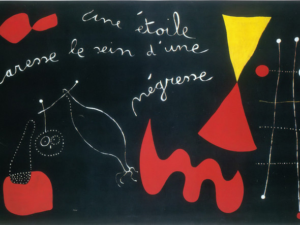 A Star Caresses The Breasts Of A Negro Woman 1938 by Joan Miro Print