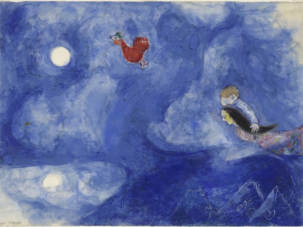 Aleko And Zemphira by Marc Chagall Print