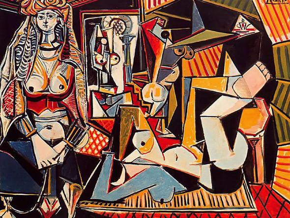Algerian Women (Delacroix) by Picasso Print