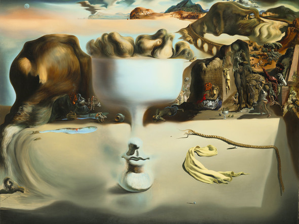 Apparition Of Face And Fruit Dish On A Beach by Salvador Dali Print