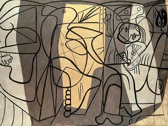 Artist And His Model by Picasso Print