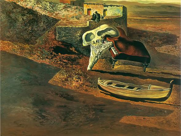 Atmospheric Skull Sodomizing A Grand Piano by Dali Print