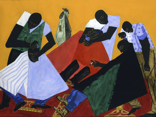 Barber Shop by Jacob Lawrence Print