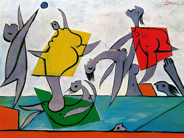 Beach Game And Rescue Musee Picasso Paris France by Picasso Print