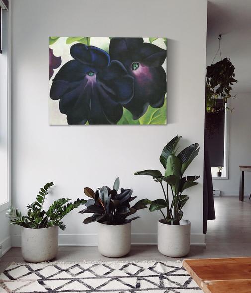 Black And Purple Petunias 1925 by Georgia O Keeffe