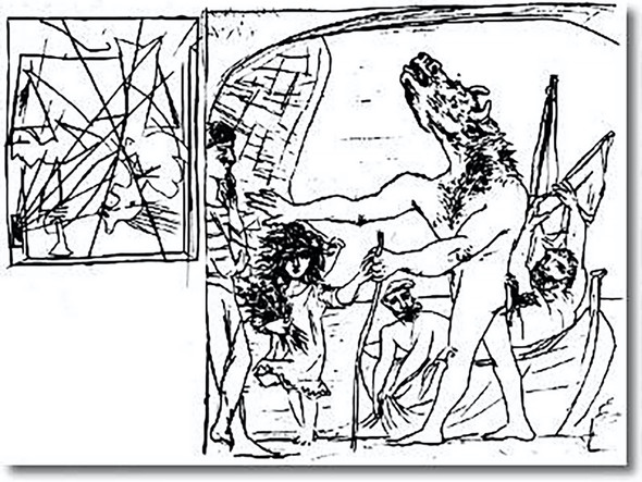 Blind Minotaur Is Guided By Girl by Picasso Print