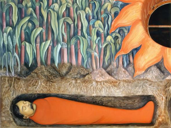 Blossoming Emiliano Zapata And Otilio Montano by Diego Rivera Print