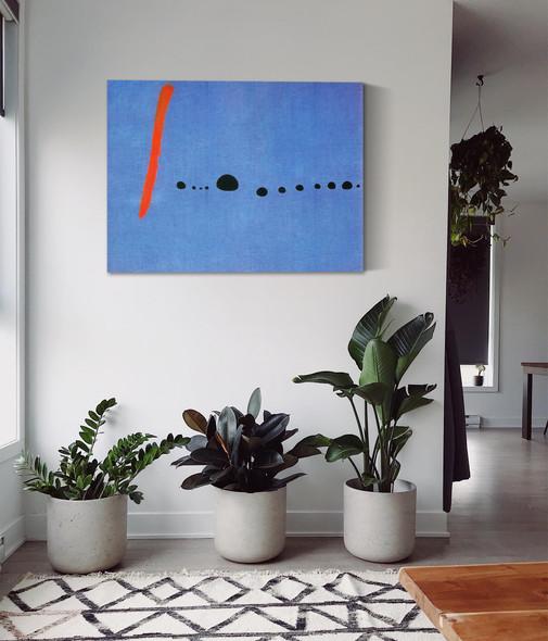 Blue Ii4 3 1961 by Joan Miro