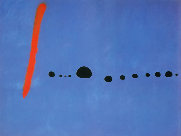 Blue Ii4 3 1961 by Joan Miro Print