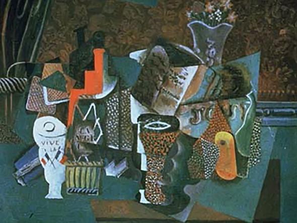 Bottle Of Black Rum (Vive La France) by Picasso Print