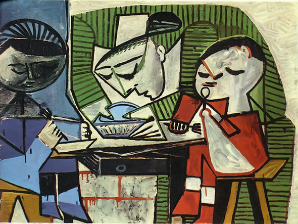 Breakfast 98x130 by Picasso Print