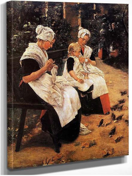 Amsterdam Orphans In The Garden 1885 By Max Liebermann