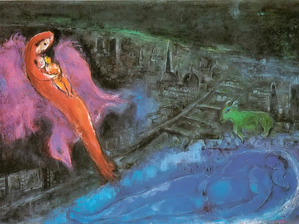 Bridges Over The Seine by Marc Chagall Print