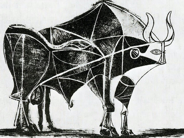 Bull (Plate V)museum Of Modern Art New York Usa by Picasso Print