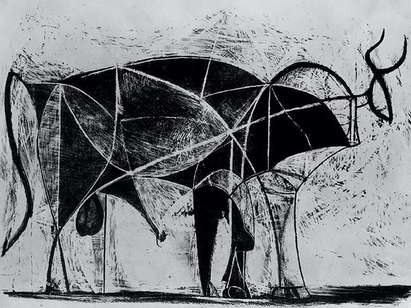 Bull (Plate Vi)museum Of Modern Art New York Usa by Picasso Print