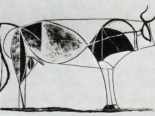 Bull (Plate Vii) 32x44staatsgalerie Stuttgart Germany by Picasso Print