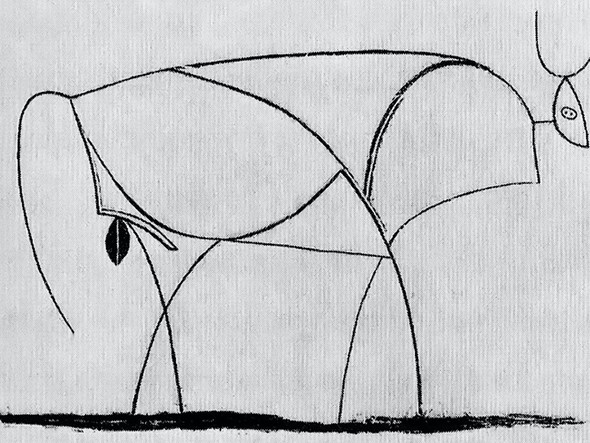 Bull (Plate X)museum Of Modern Art New York Usa by Picasso Print