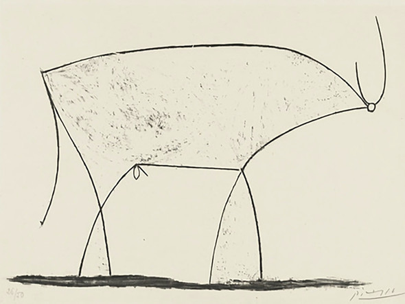 Bull (Plate Xi) 29x39museum Of Modern Art New York Usa by Picasso Print