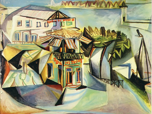 Cafe Royan 97x130 by Picasso Print