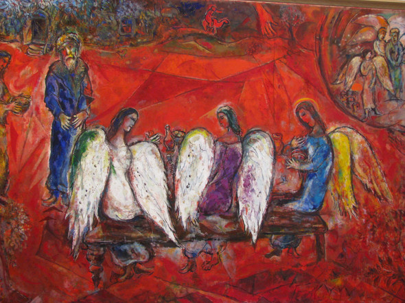 Chagall by Abe With Angels Print