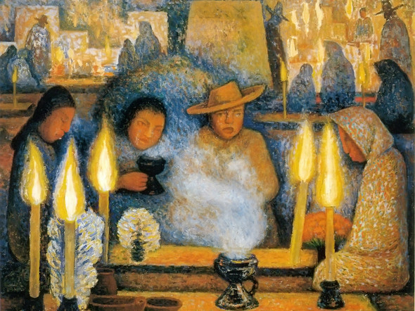 Day Of The Dead by Diego Rivera Print