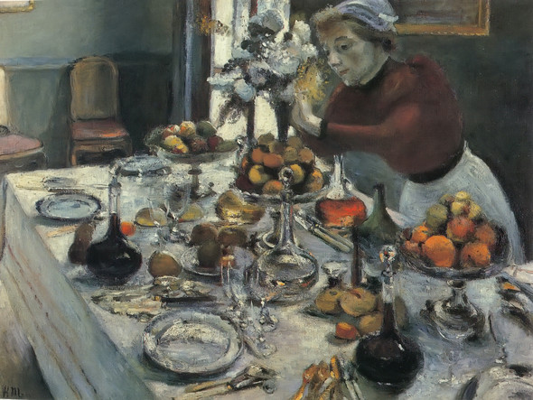 Dinner Table by Henri Matisse Print