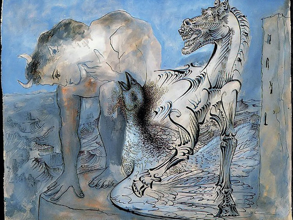 Faun Horse And Bird 44x54 Musee Picasso Paris France by Picasso Print