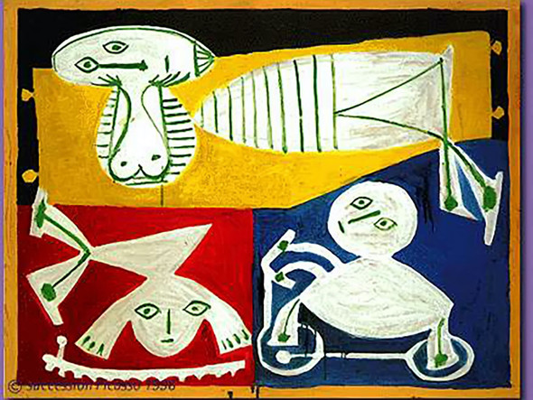 Francoise Gilot With Paloma And Claude by Picasso Print