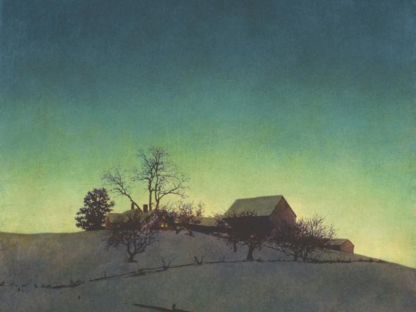 Freeman Farm Winter by Maxfield Parrish Print