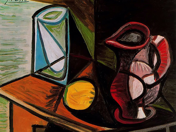 Glass And Pitcher by Picasso Print