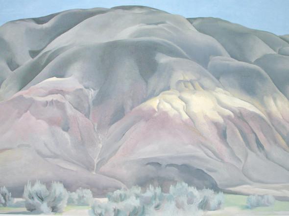 Grey Hill Forms by Georgia O Keeffe Print