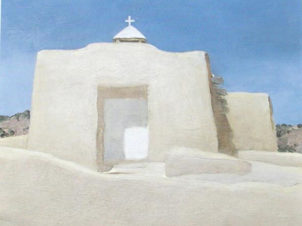 Hernandez Church New Mexico by Georgia O Keeffe Print