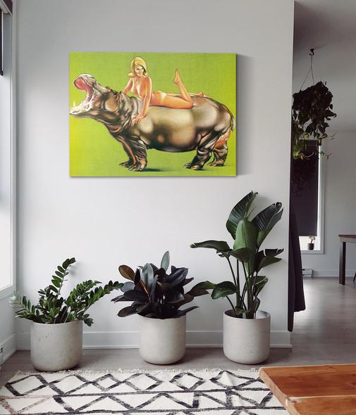 Hippopotamus 1967 by Mel Ramos