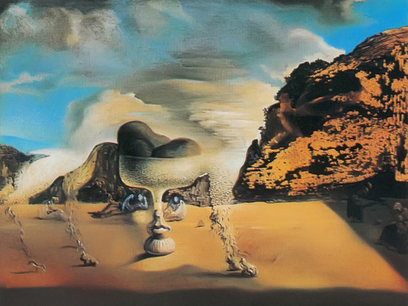 Invisible Afghan Housn With The Apparition On The Beach by Dali Print