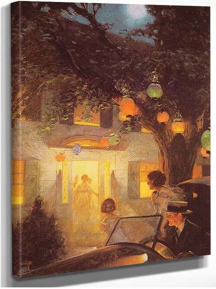 And The Symbol Of Welcome Is Light 1920 By Norman Rockwell
