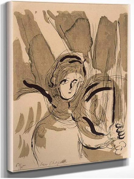 Angel With A Sword 1956 By Marc Chagall