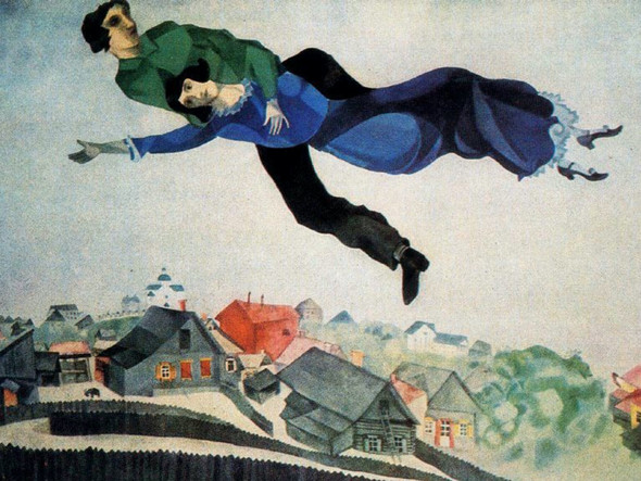 Over The Town 1918 By Marc Chagall by Marc Chagall Print