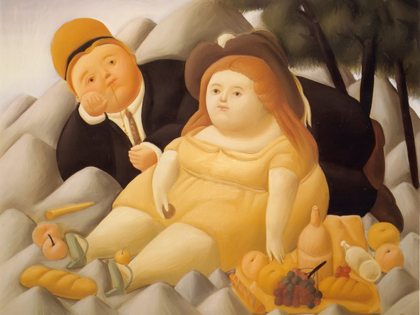 Picnic In The Mountains by Botero Print