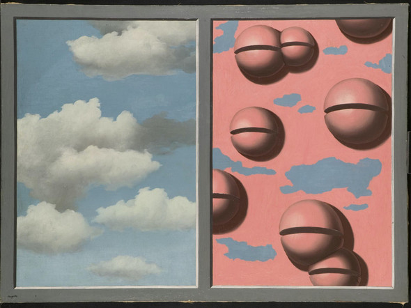 Pink Belles Tattered Skies by Rene Magritte Print