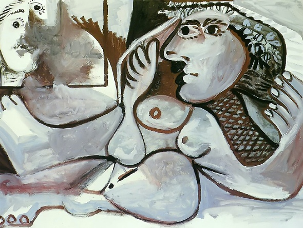 Reclining Nude With Wreath by Picasso Print