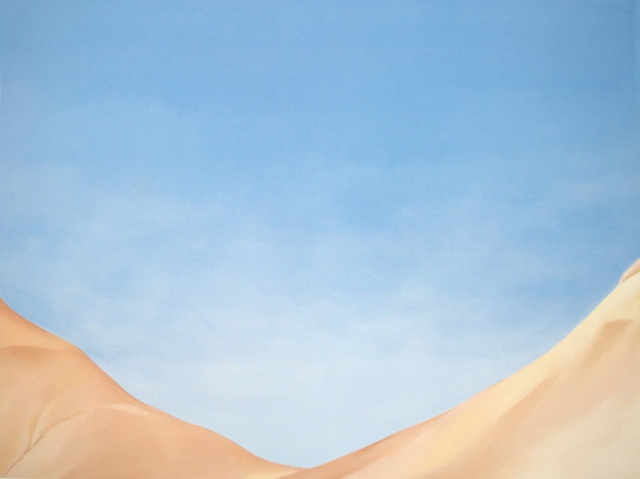 Red Hills And Blue Sky2 by Georgia O Keeffe Print