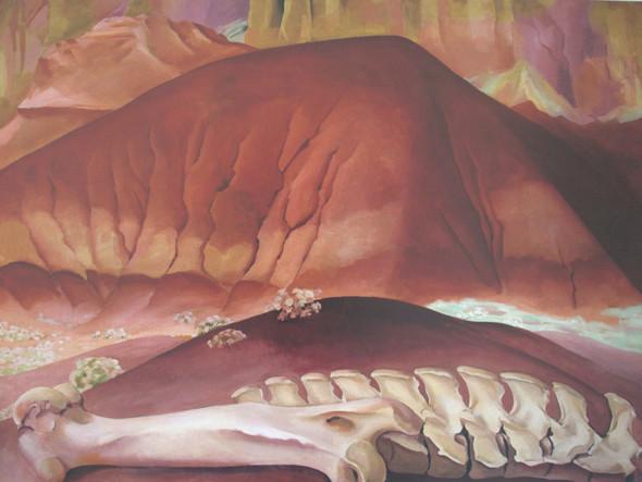 Red Hills And Bones by Georgia O Keeffe Print