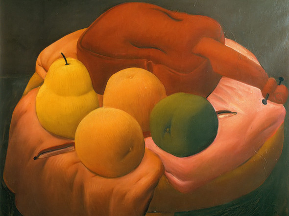 Still Life With Violin by Botero Print