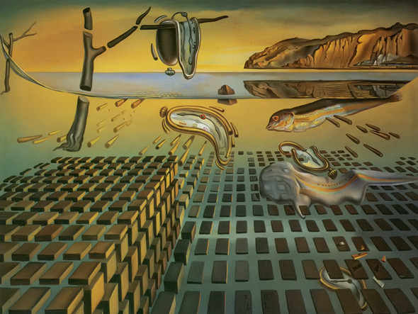 The Disintegration Of The Persistence Of Memory by Dali Print