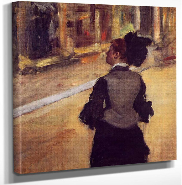 A Visit To The Museum By Edgar Degas Art Reproduction from Wanford.