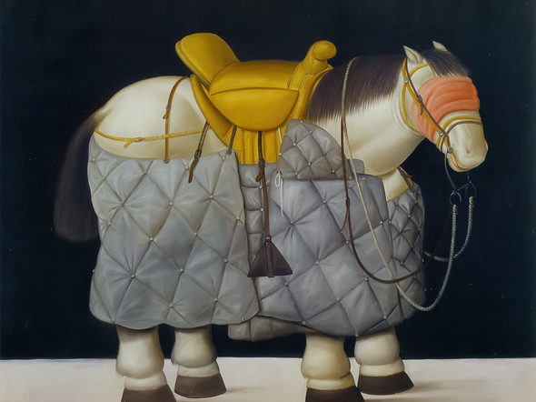 The Picadors Horse by Botero Print